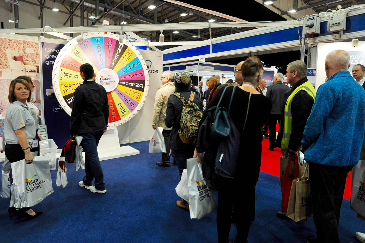 National Painting and Decorating Show - Dulux colour wheel