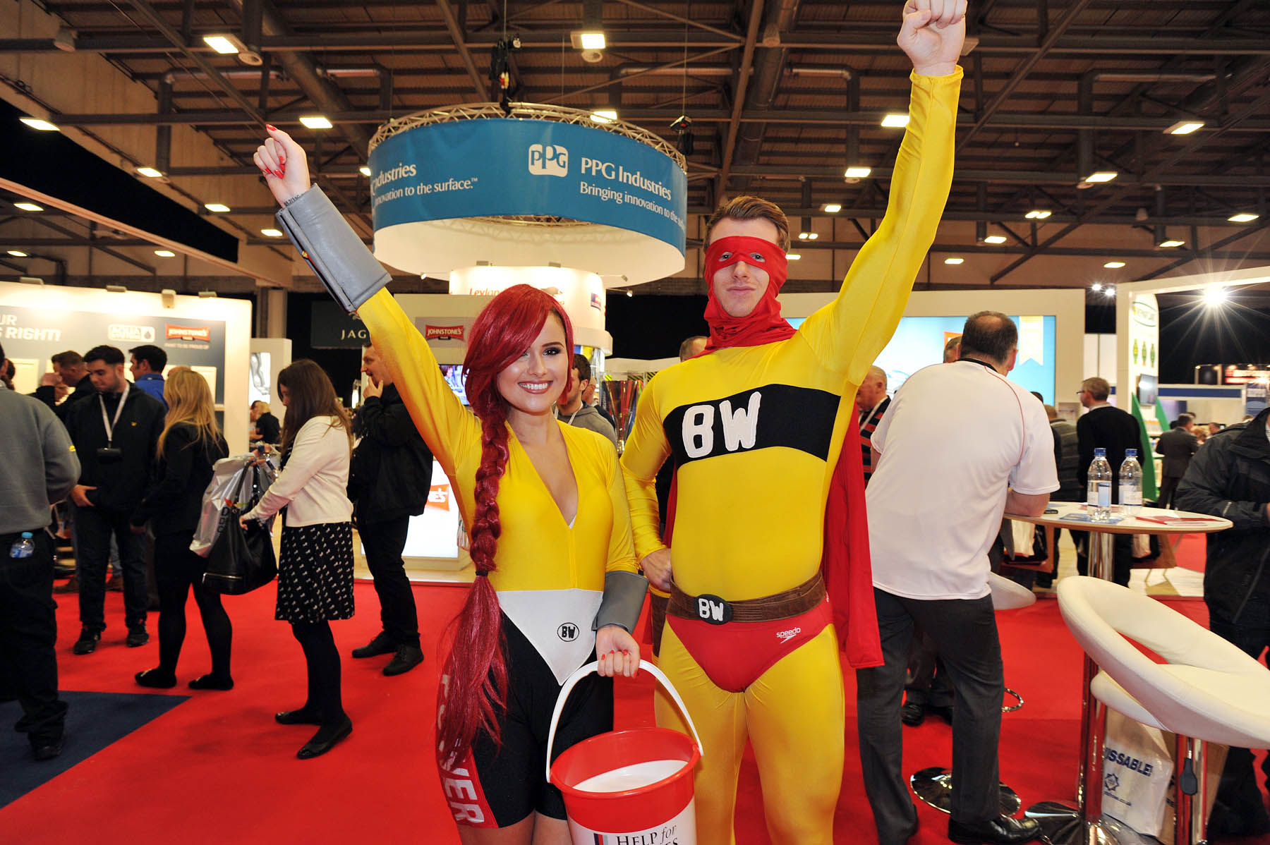 National Painting And Decorating Show - BW Superheros - Help For Heros Collection