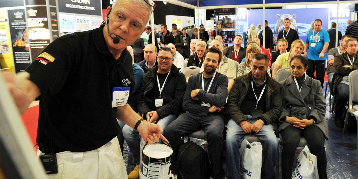 National Painting and Decorating Show Masterclass demonstration